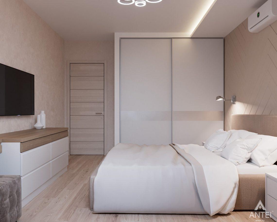 Дизайн интерьера трехкомнатная квартира в Гомеле, ул. Барыкина - спальня фото №2