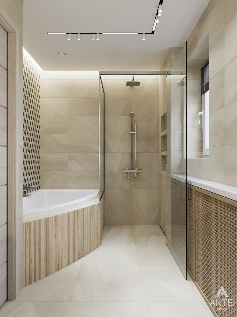 Дизайн интерьера трехкомнатная квартира в Гомеле, ул. Барыкина - ванная фото №3