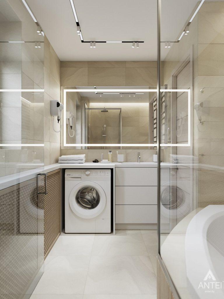 Дизайн интерьера трехкомнатная квартира в Гомеле, ул. Барыкина - ванная фото №1