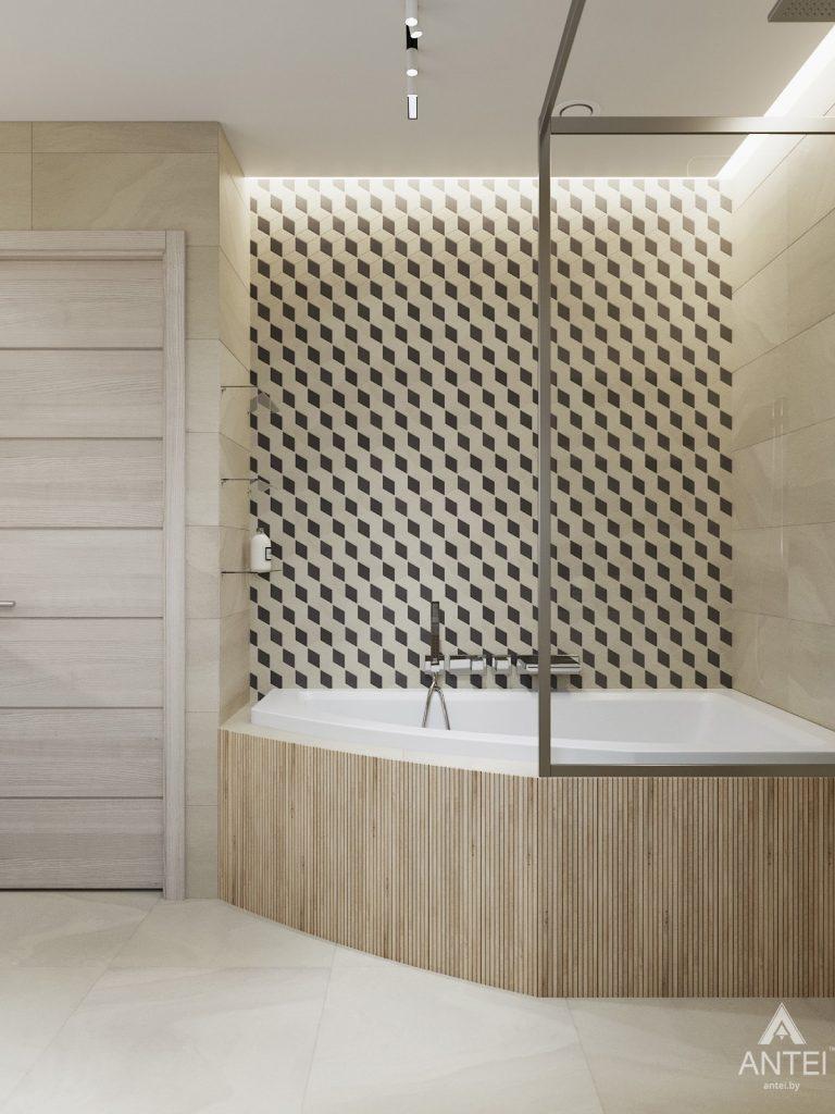 Дизайн интерьера трехкомнатная квартира в Гомеле, ул. Барыкина - ванная фото №2