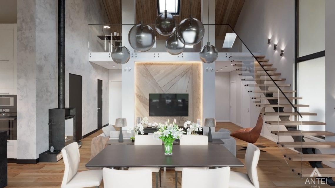Дизайн интерьера дома со вторым светом в Гомеле - гостиная фото №2