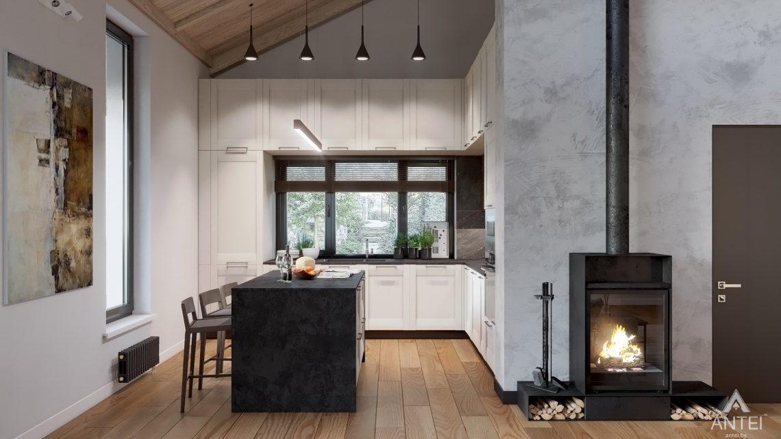 Дизайн интерьера дома со вторым светом в Гомеле - кухня фото №1