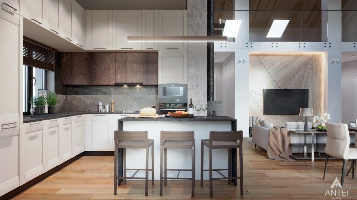 Дизайн интерьера дома со вторым светом в Гомеле - кухня фото №2