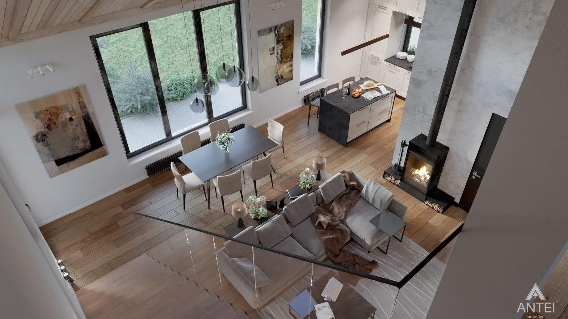 Дизайн интерьера дома со вторым светом в Гомеле - гостиная фото №5