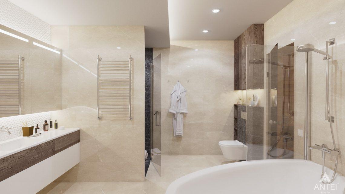 Дизайн интерьера дома со вторым светом в Гомеле - санузел фото №2