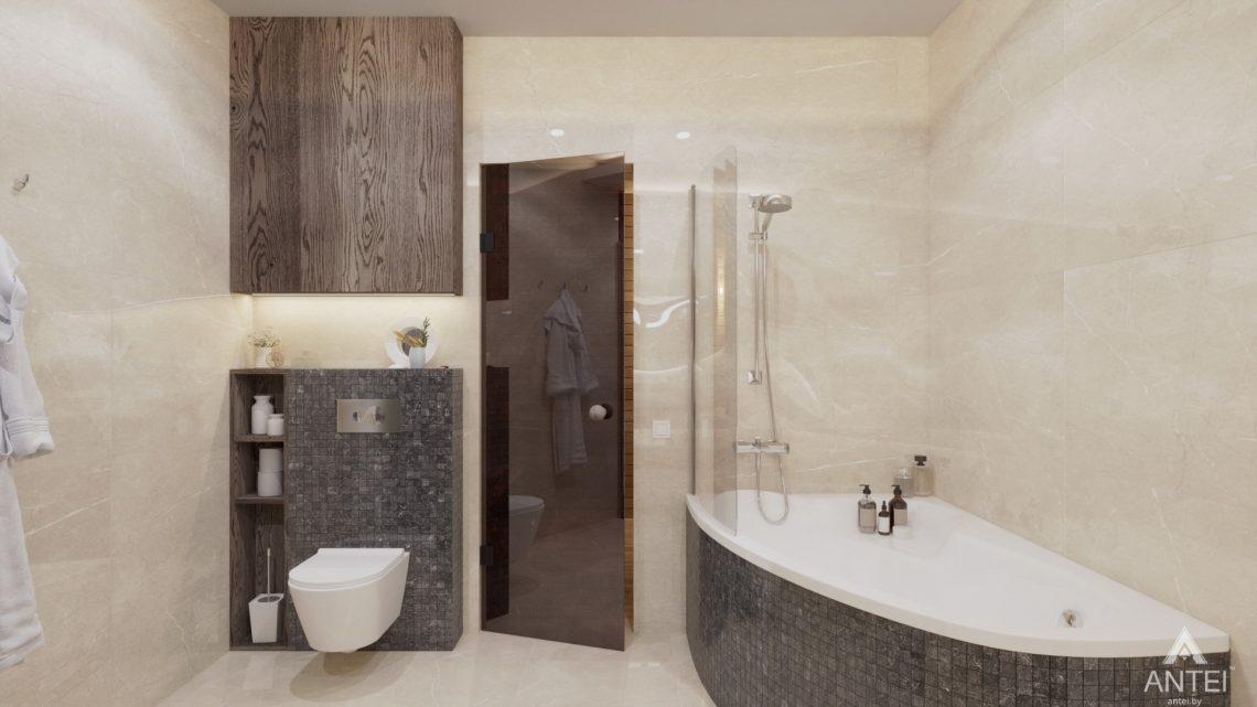 Дизайн интерьера дома со вторым светом в Гомеле - санузел фото №3