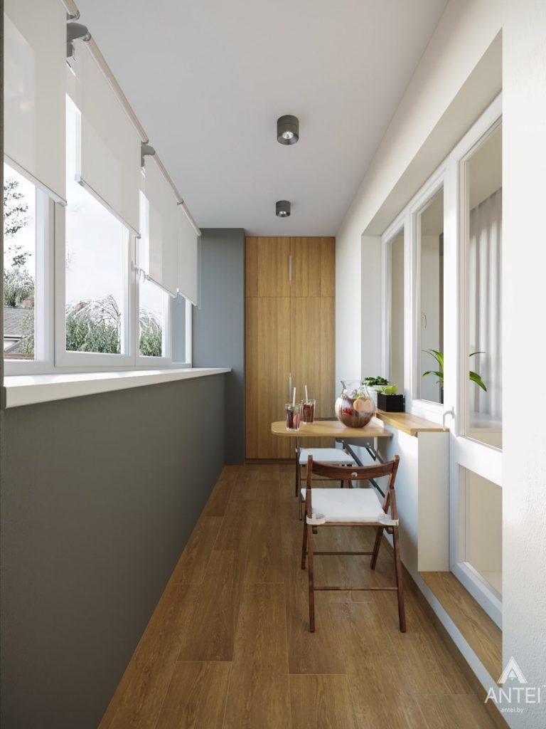 Дизайн интерьера трехкомнатной квартиры в Гомеле, ул. Карла Маркса - балкон фото №2