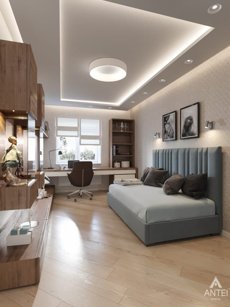 Дизайн интерьера трехкомнатной квартиры в Гомеле, ул. Карла Маркса - детская комната фото №1