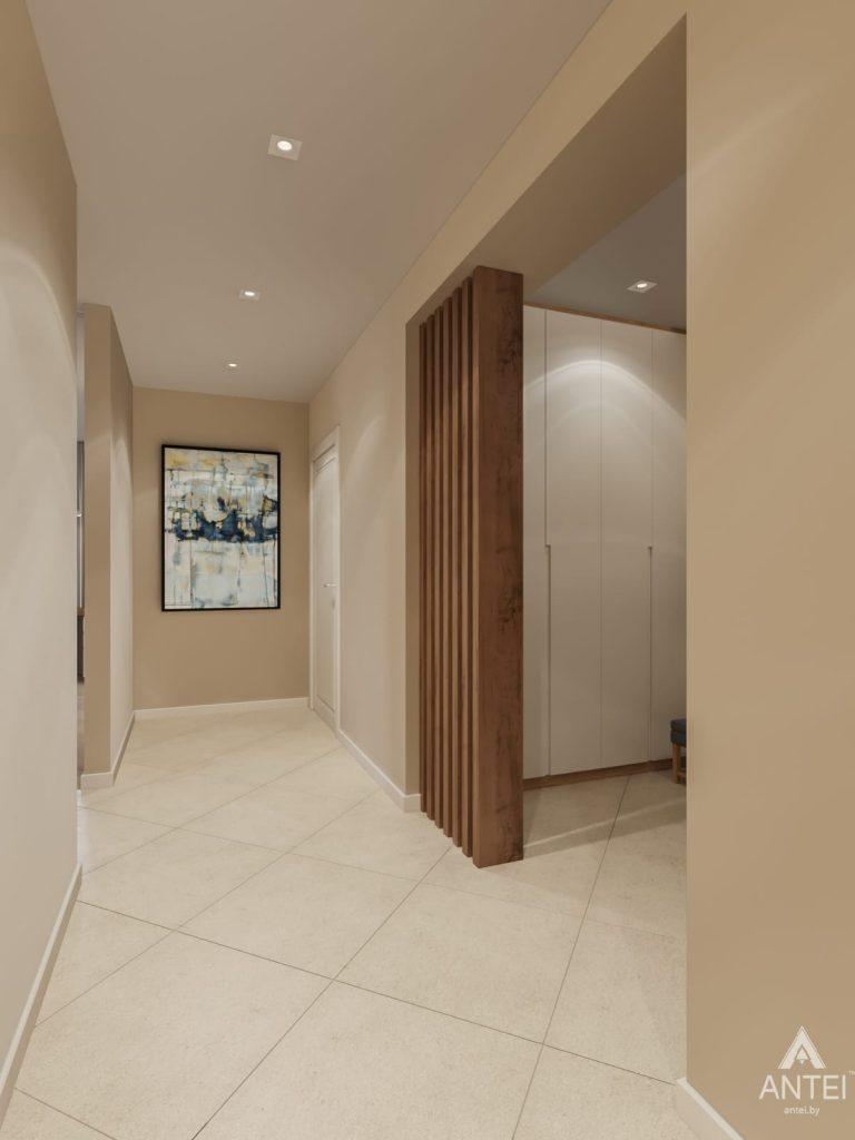 Дизайн интерьера трехкомнатной квартиры в Гомеле, ул. Карла Маркса - коридор фото №3