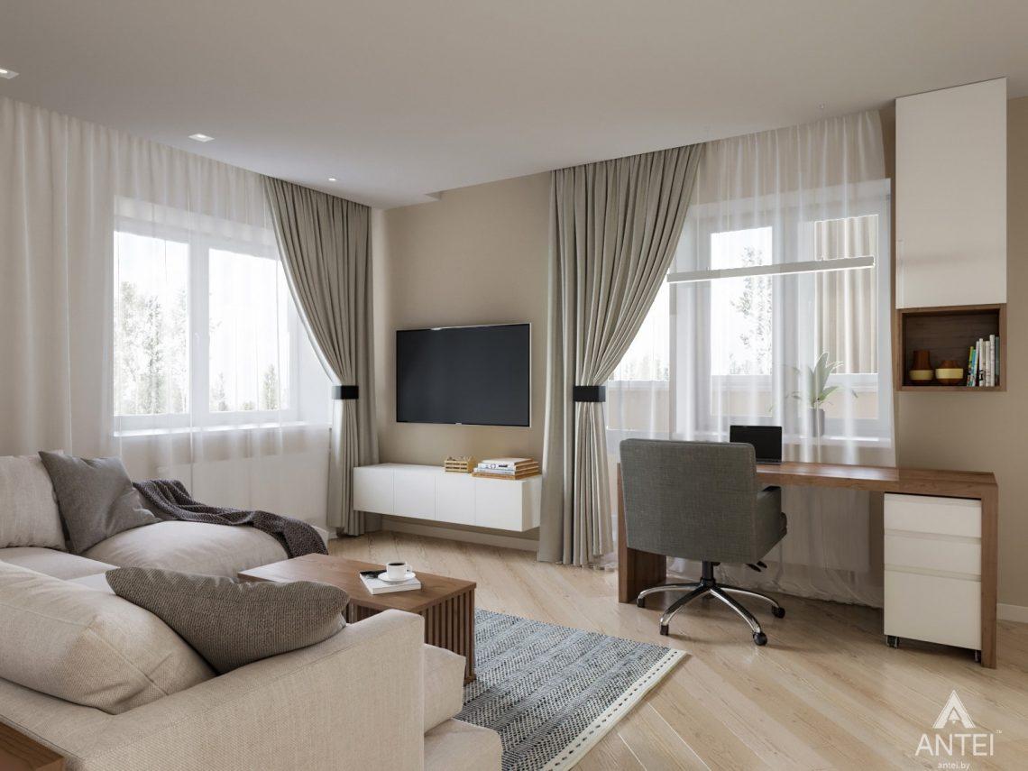Дизайн интерьера трехкомнатной квартиры в Гомеле, ул. Карла Маркса - гостиная фото №2