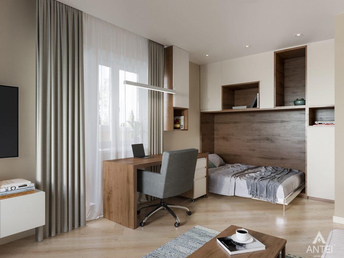 Дизайн интерьера трехкомнатной квартиры в Гомеле, ул. Карла Маркса - гостиная фото №4