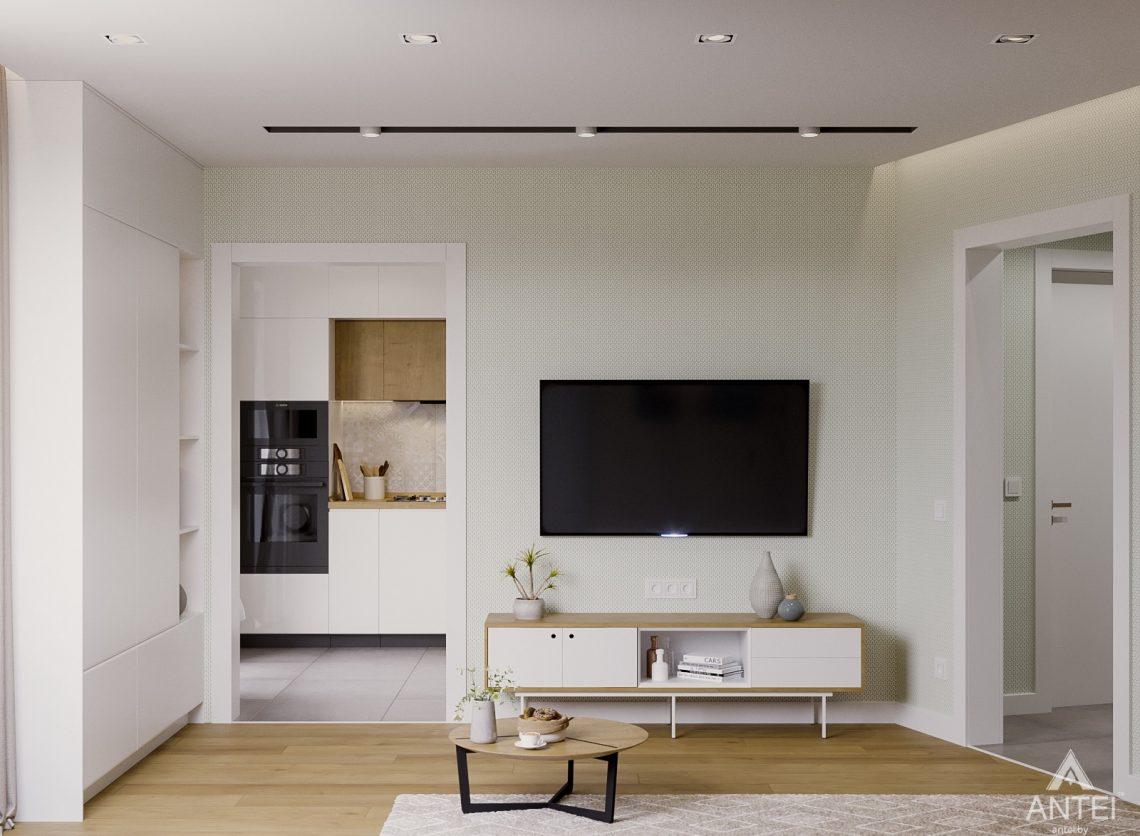 Дизайн интерьера однокомнатной квартиры в Гомеле, ул. Мазурова - гостиная фото №4
