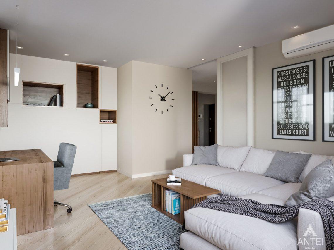 Дизайн интерьера трехкомнатной квартиры в Гомеле, ул. Карла Маркса - гостиная фото №5