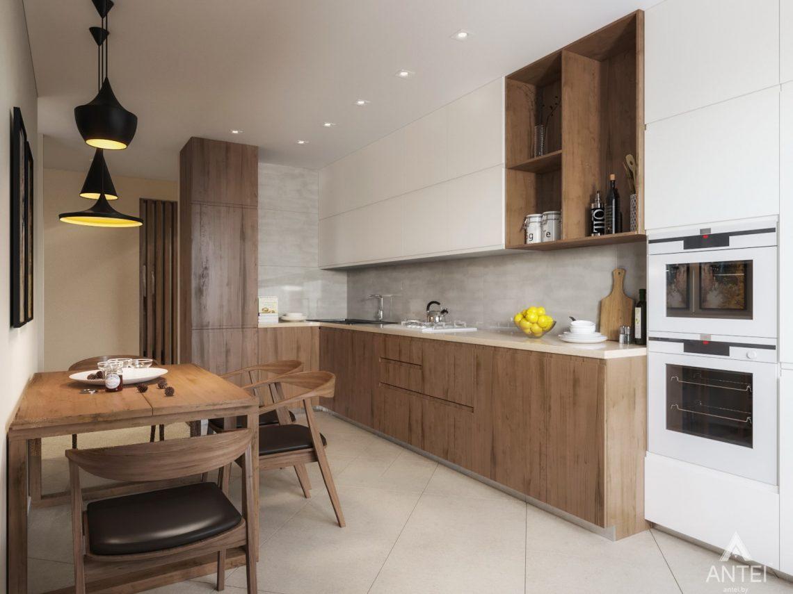 Дизайн интерьера трехкомнатной квартиры в Гомеле, ул. Карла Маркса - кухня фото №1