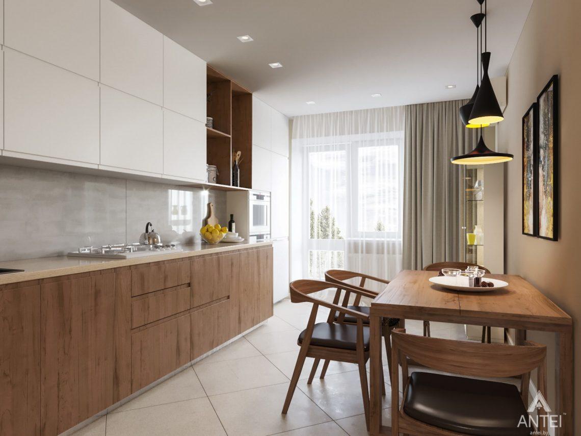 Дизайн интерьера трехкомнатной квартиры в Гомеле, ул. Карла Маркса - кухня фото №2