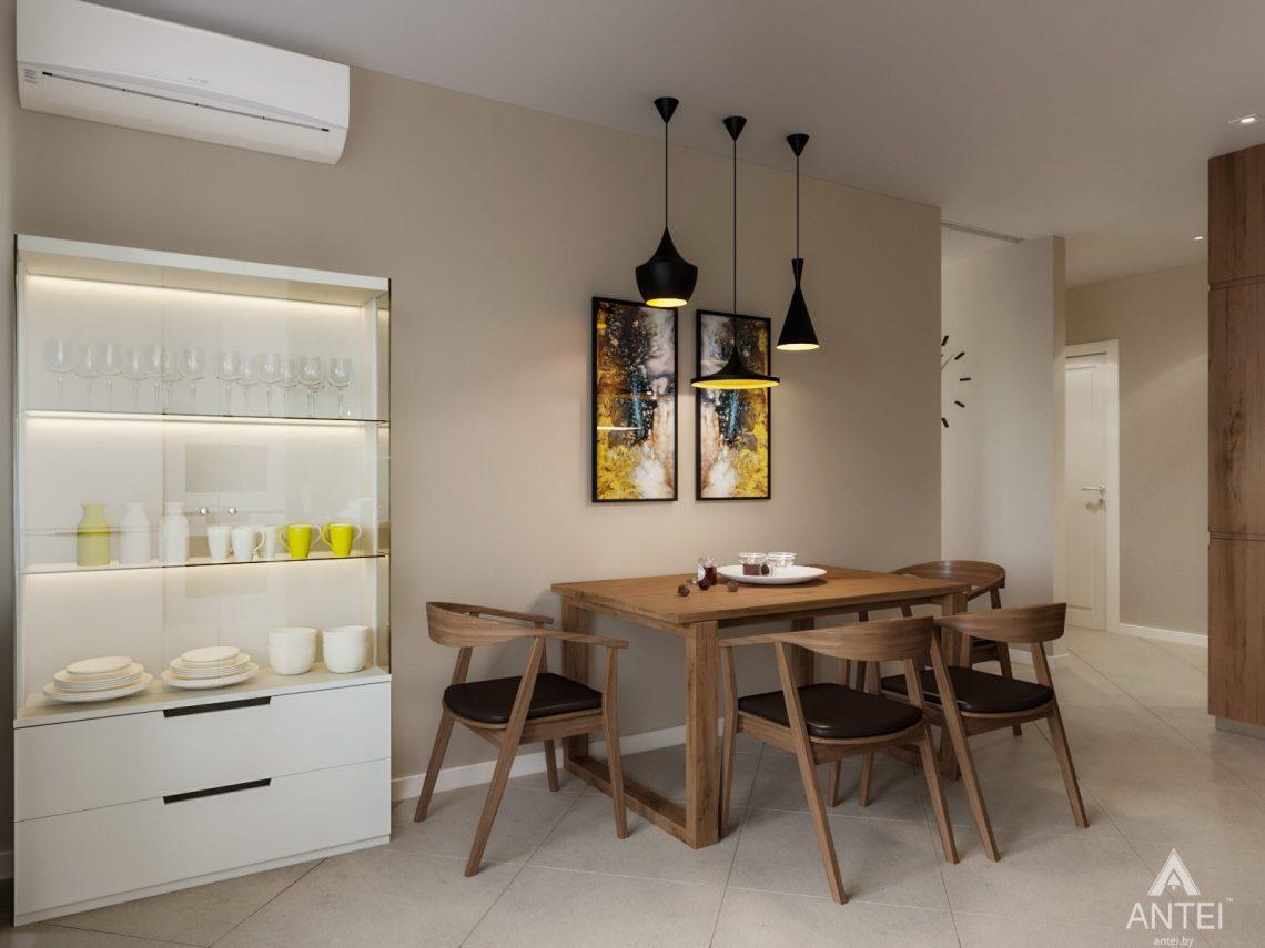 Дизайн интерьера трехкомнатной квартиры в Гомеле, ул. Карла Маркса - кухня фото №3