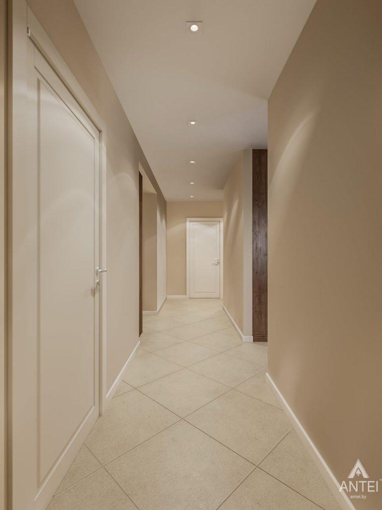 Дизайн интерьера трехкомнатной квартиры в Гомеле, ул. Карла Маркса - коридор фото №1