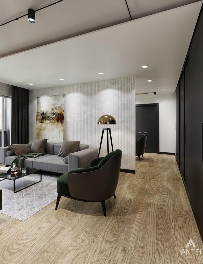 Дизайн интерьера двухкомнатная квартира в Речице - гостиная фото №4