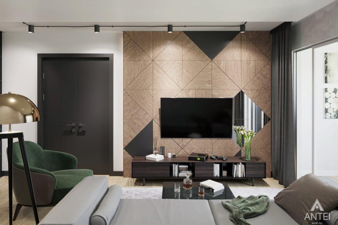 Дизайн интерьера двухкомнатная квартира в Речице - гостиная фото №1