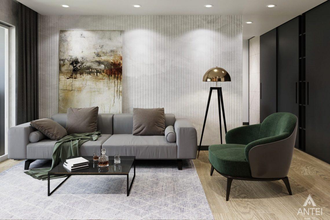 Дизайн интерьера двухкомнатная квартира в Речице - гостиная фото №2