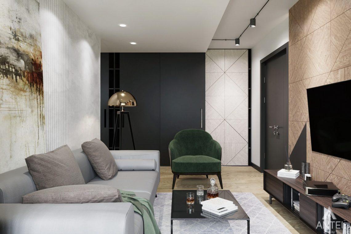 Дизайн интерьера двухкомнатная квартира в Речице - гостиная фото №3