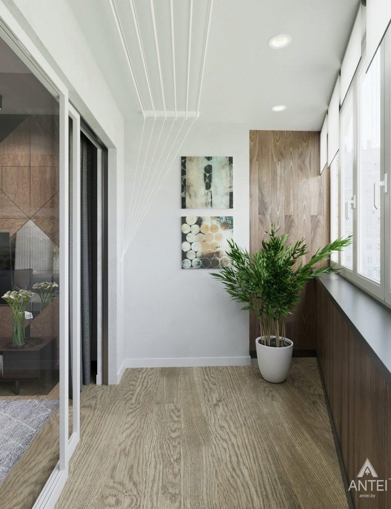 Дизайн интерьера двухкомнатная квартира в Речице - лоджия фото №1