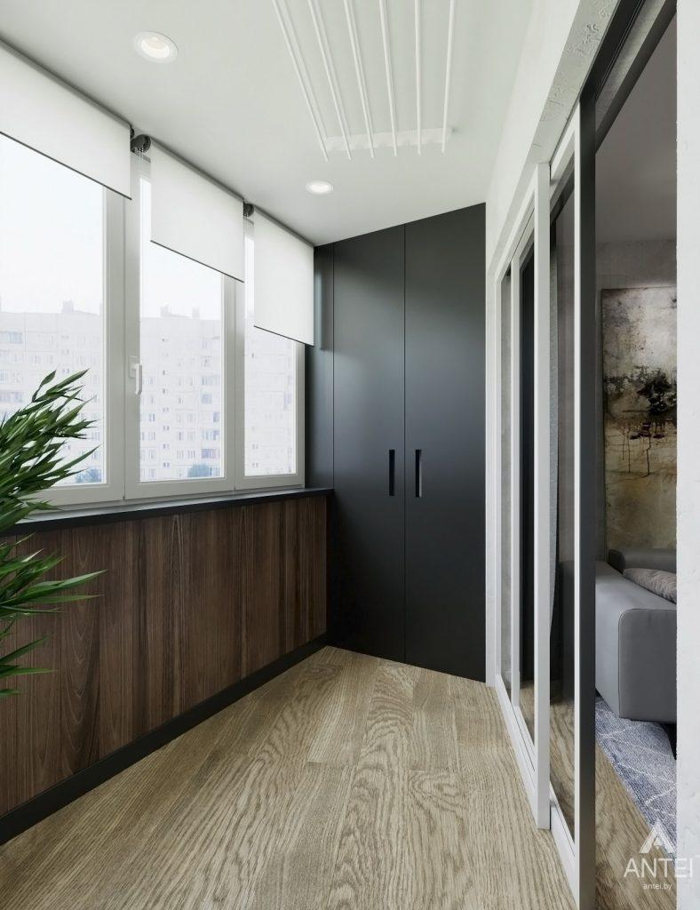 Дизайн интерьера двухкомнатная квартира в Речице - лоджия фото №2