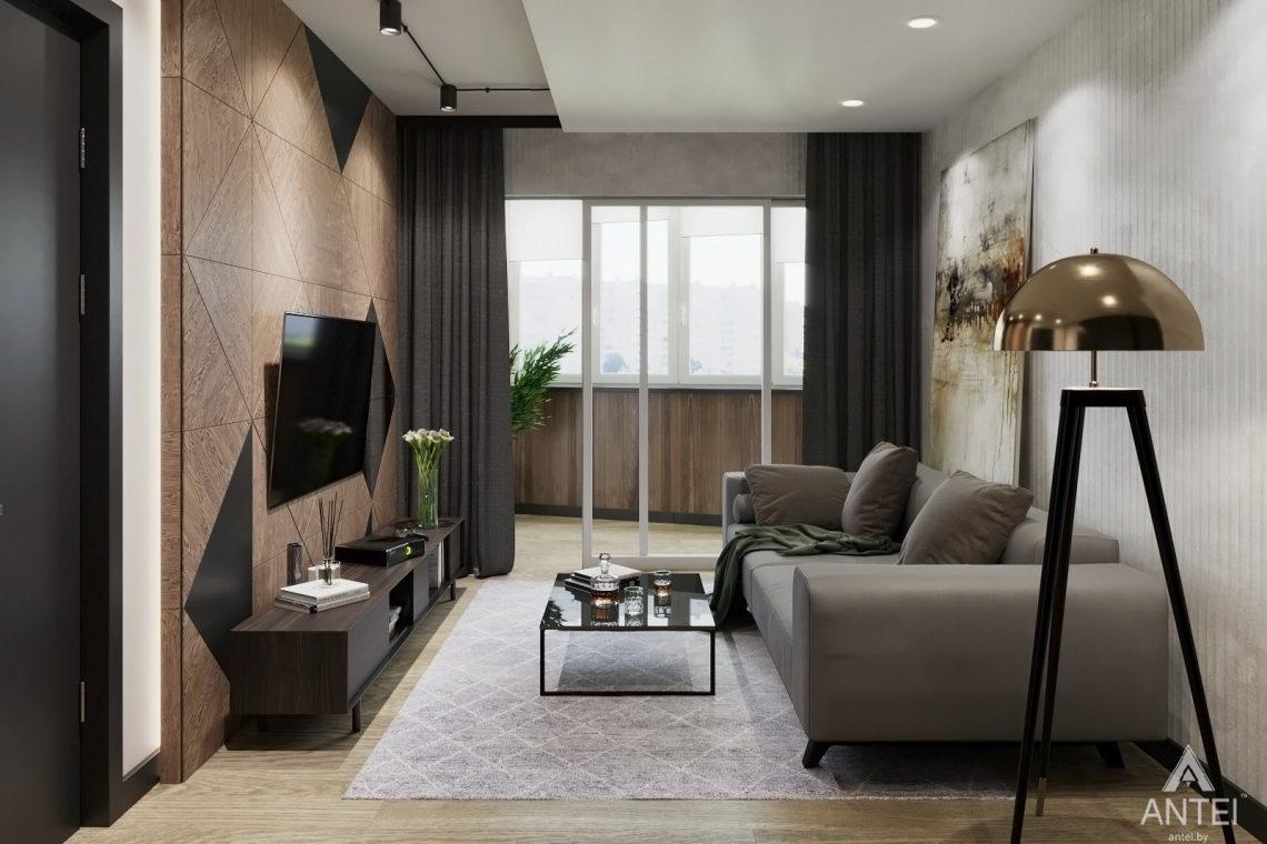 Дизайн интерьера двухкомнатная квартира в Речице - гостиная фото №5