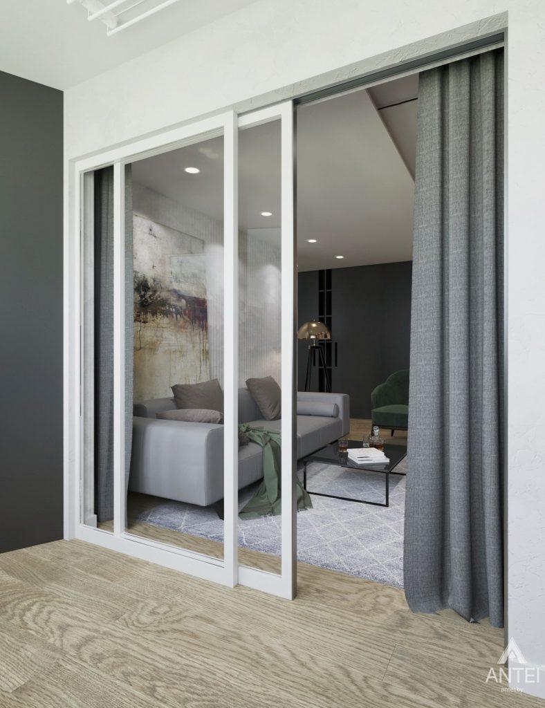 Дизайн интерьера двухкомнатная квартира в Речице - лоджия фото №3