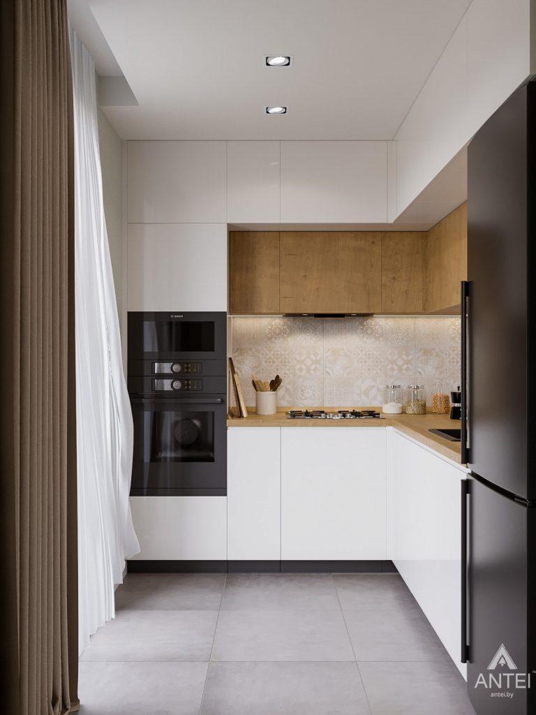 Дизайн интерьера однокомнатной квартиры в Гомеле, ул. Мазурова - кухня фото №1