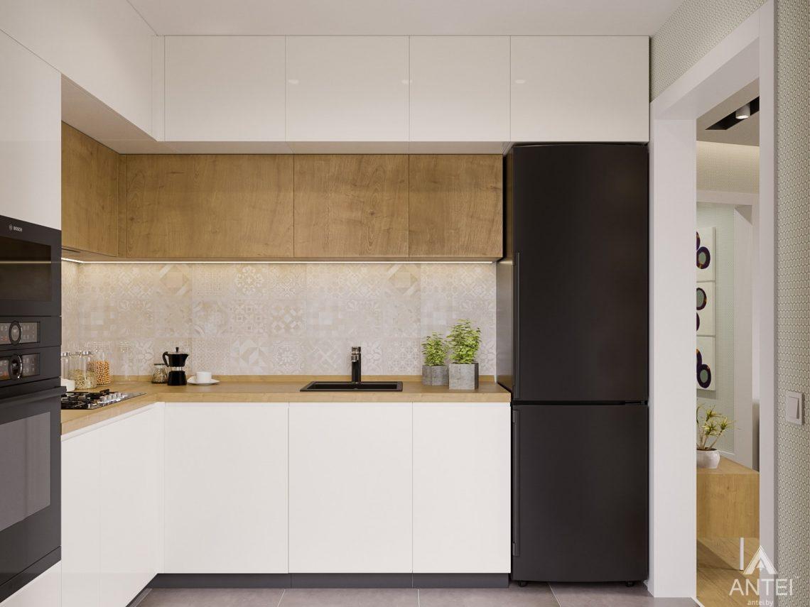 Дизайн интерьера однокомнатной квартиры в Гомеле, ул. Мазурова - кухня фото №2