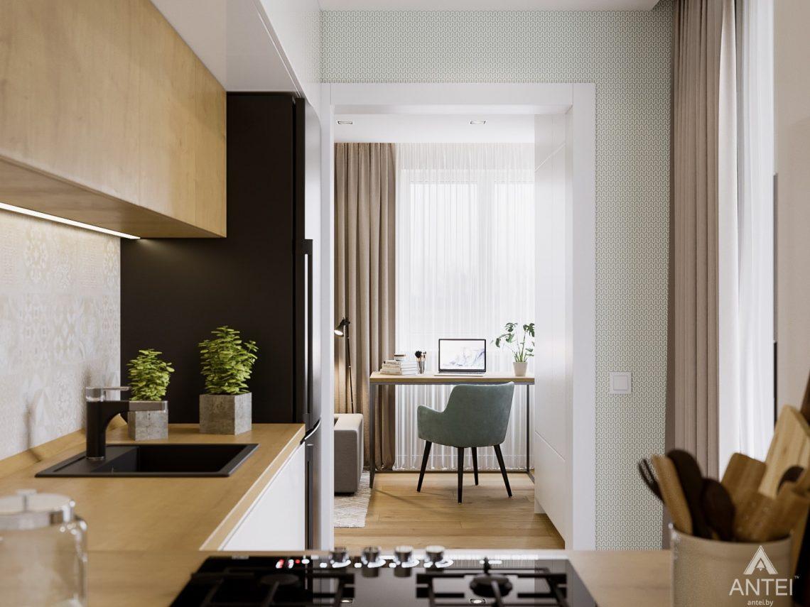 Дизайн интерьера однокомнатной квартиры в Гомеле, ул. Мазурова - кухня фото №4