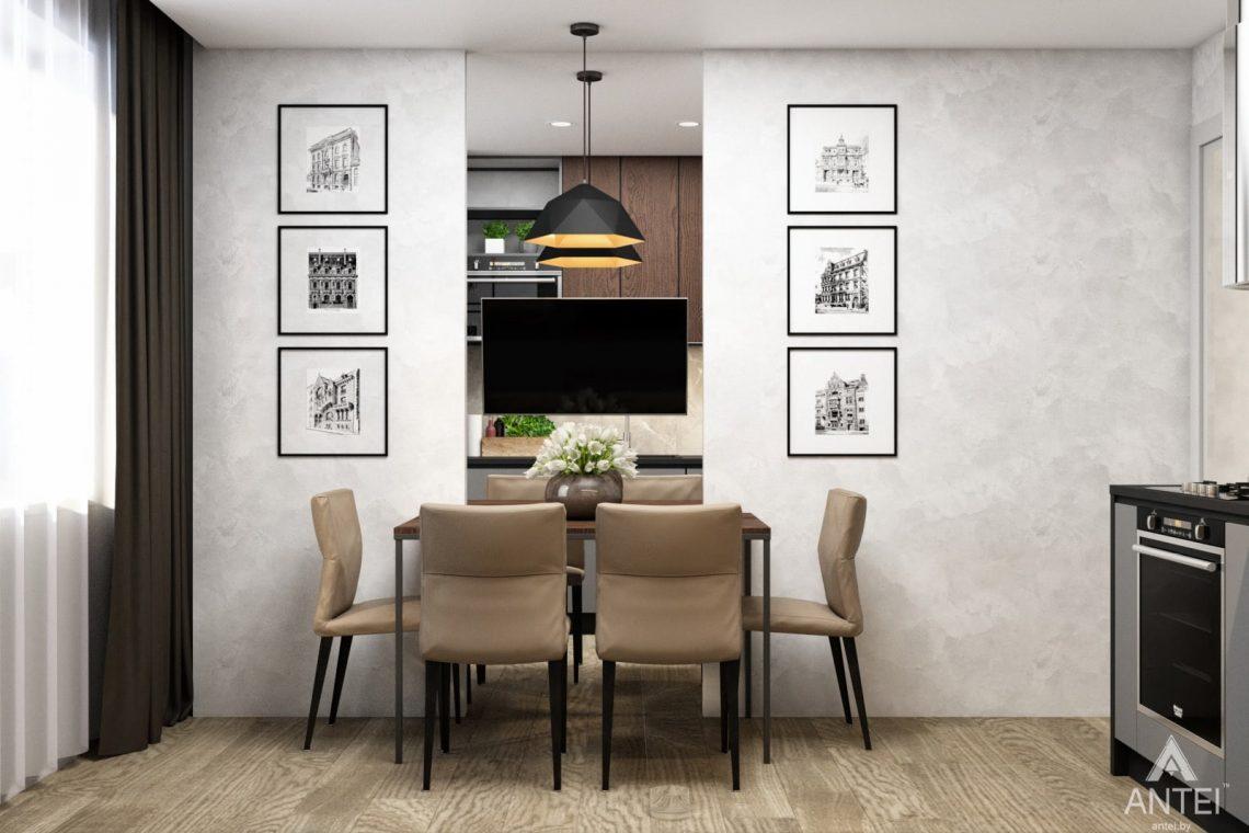 Дизайн интерьера двухкомнатная квартира в Речице - кухня фото №1