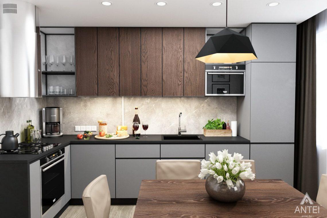 Дизайн интерьера двухкомнатная квартира в Речице - кухня фото №2