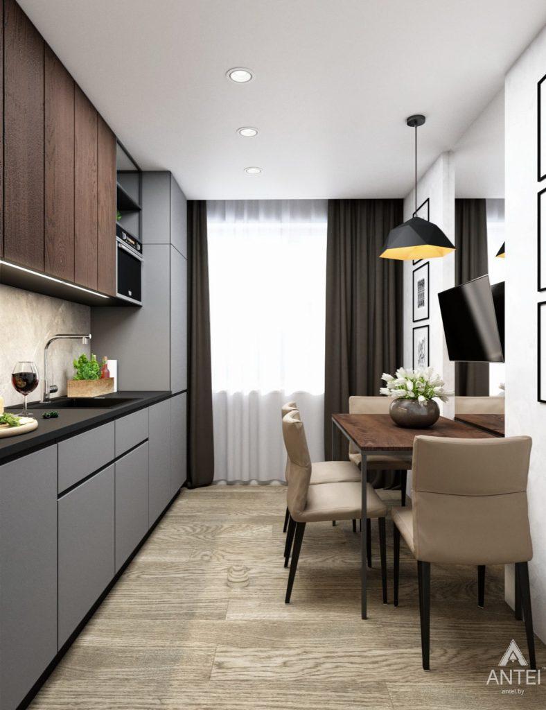Дизайн интерьера двухкомнатная квартира в Речице - кухня фото №3