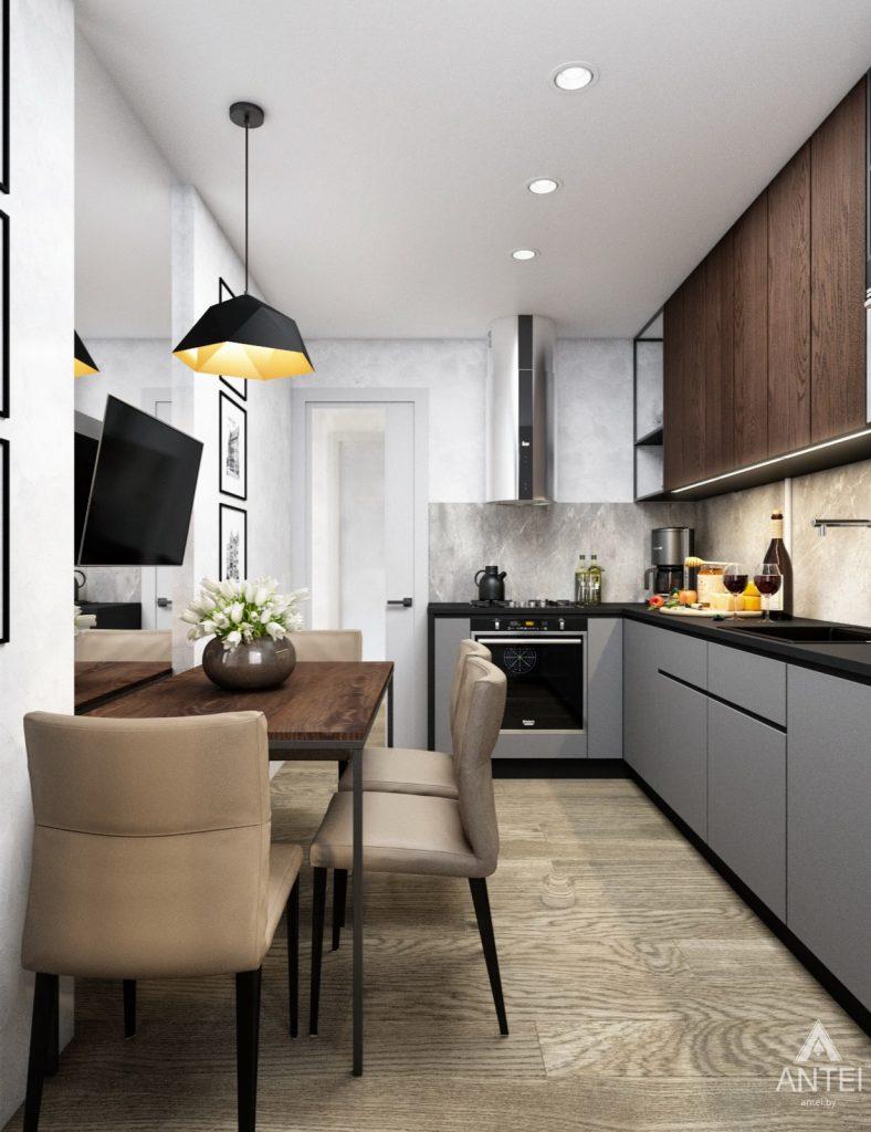 Дизайн интерьера двухкомнатная квартира в Речице - кухня фото №4
