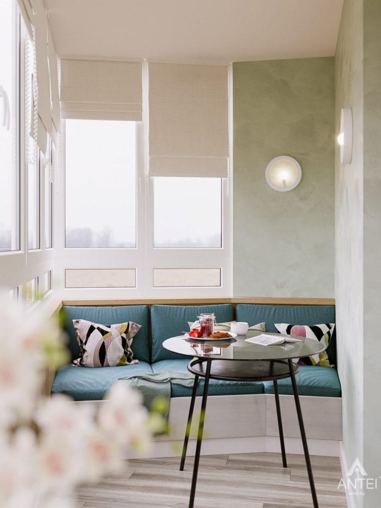 Дизайн интерьера однокомнатной квартиры в Гомеле, ул. Мазурова - лоджия фото №1