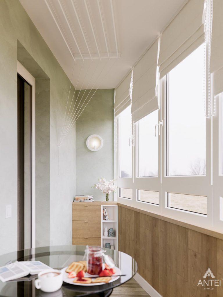 Дизайн интерьера однокомнатной квартиры в Гомеле, ул. Мазурова - лоджия фото №2