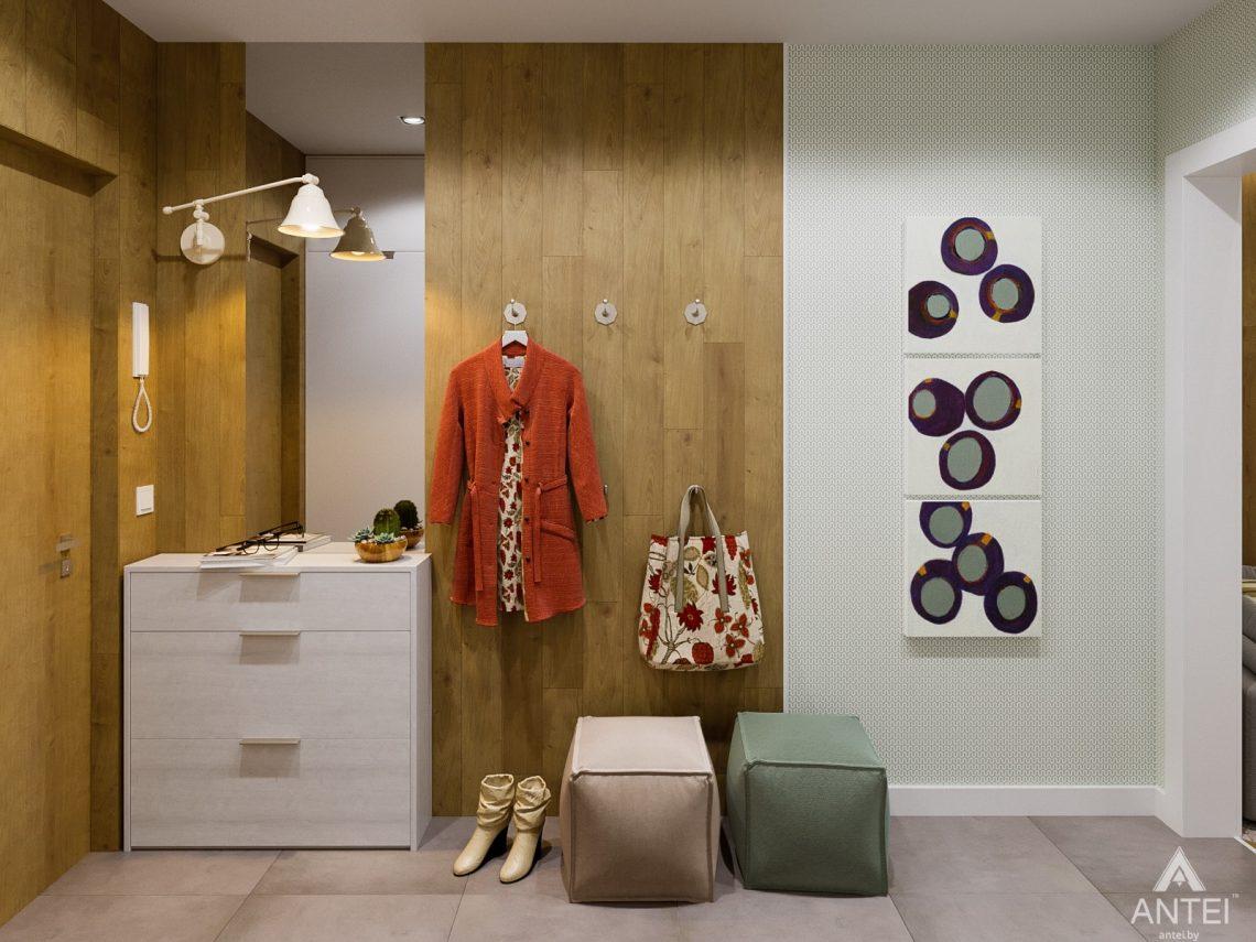 Дизайн интерьера однокомнатной квартиры в Гомеле, ул. Мазурова - прихожая фото №1