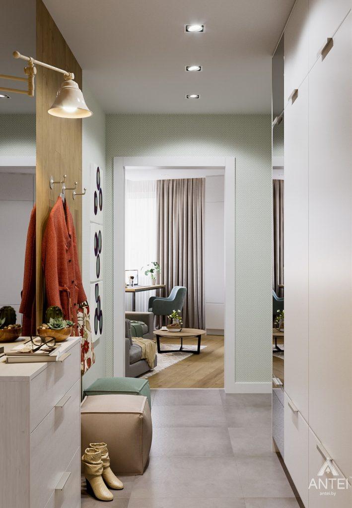 Дизайн интерьера однокомнатной квартиры в Гомеле, ул. Мазурова - прихожая фото №2