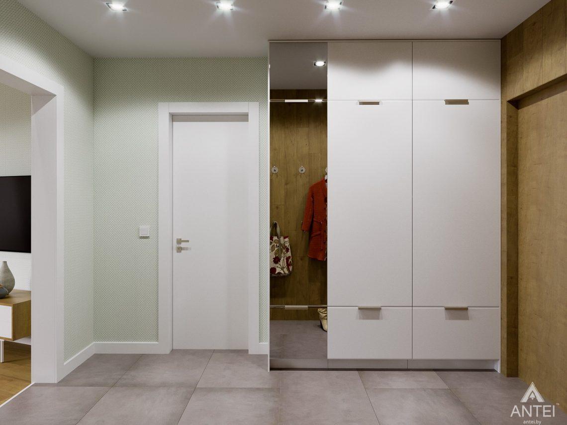 Дизайн интерьера однокомнатной квартиры в Гомеле, ул. Мазурова - прихожая фото №3