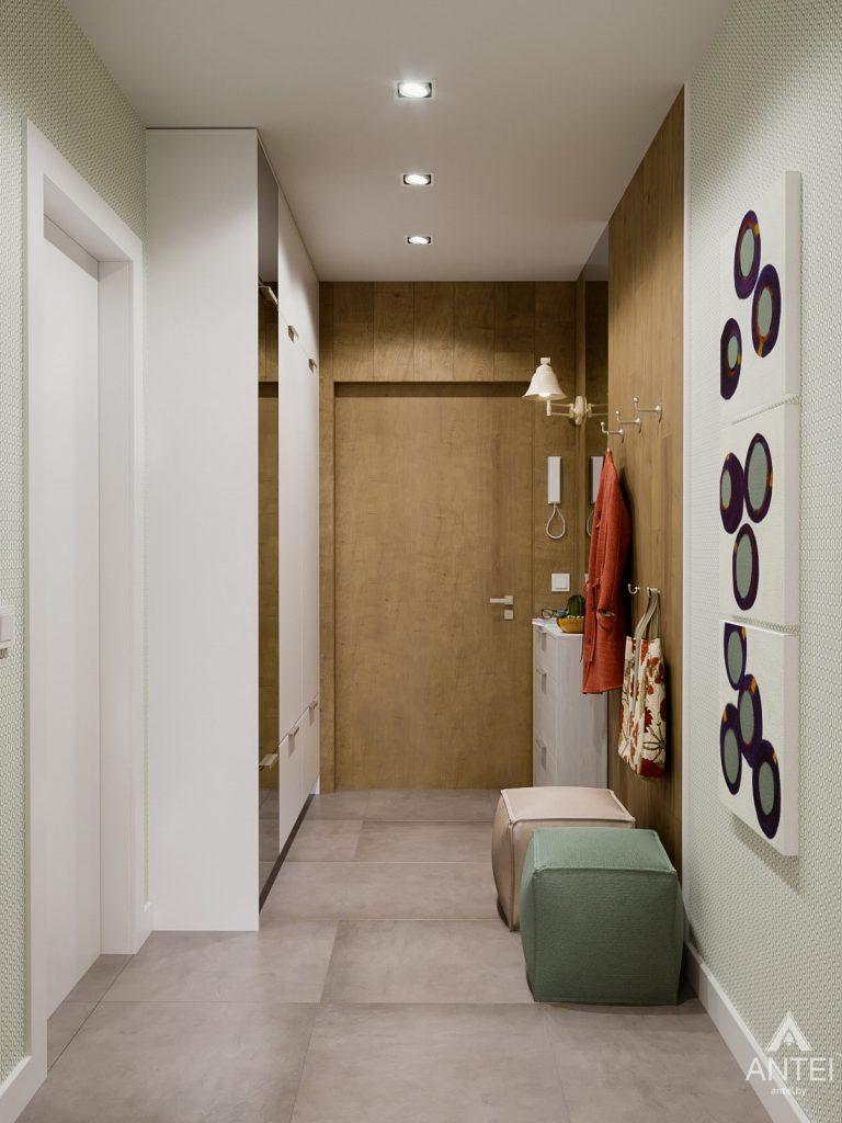 Дизайн интерьера однокомнатной квартиры в Гомеле, ул. Мазурова - прихожая фото №4