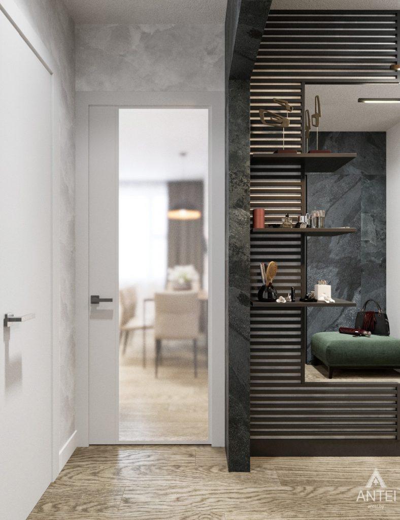 Дизайн интерьера двухкомнатная квартира в Речице - прихожая фото №1