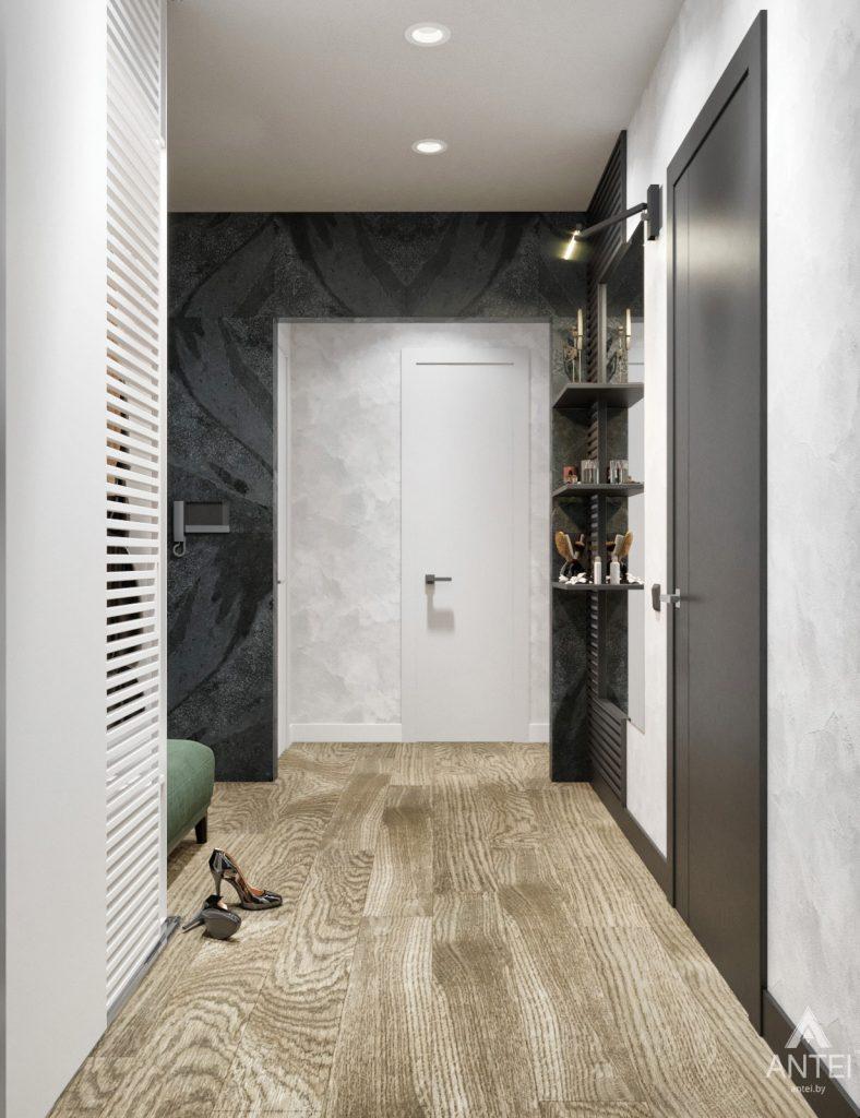 Дизайн интерьера двухкомнатная квартира в Речице - прихожая фото №2