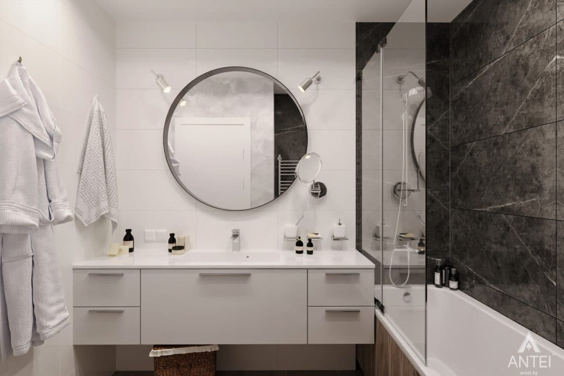 Дизайн интерьера двухкомнатная квартира в Речице - санузел фото №2