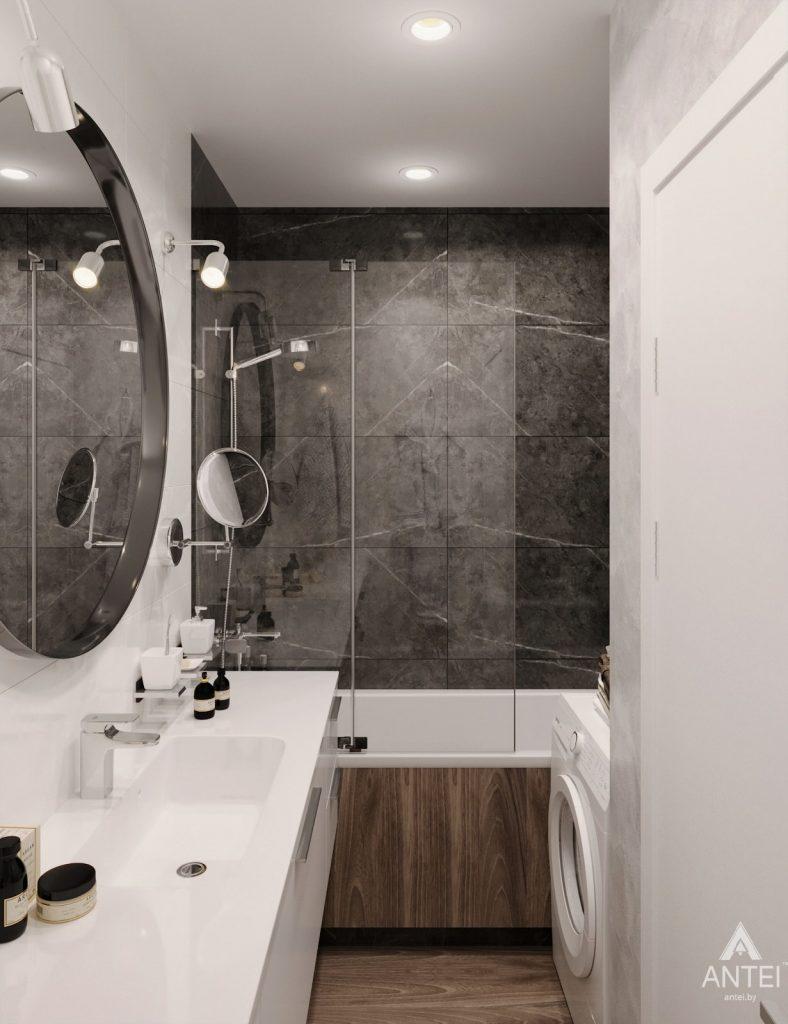 Дизайн интерьера двухкомнатная квартира в Речице - санузел фото №3