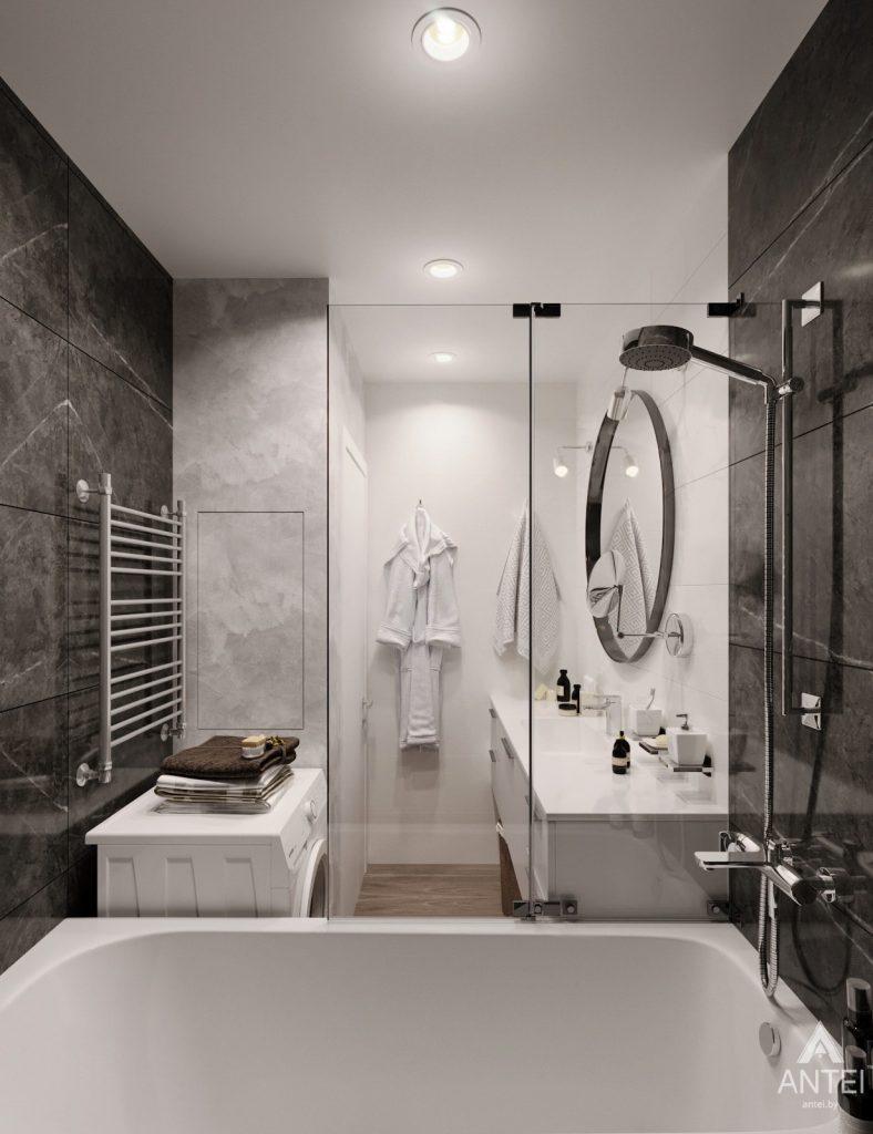 Дизайн интерьера двухкомнатная квартира в Речице - санузел фото №4