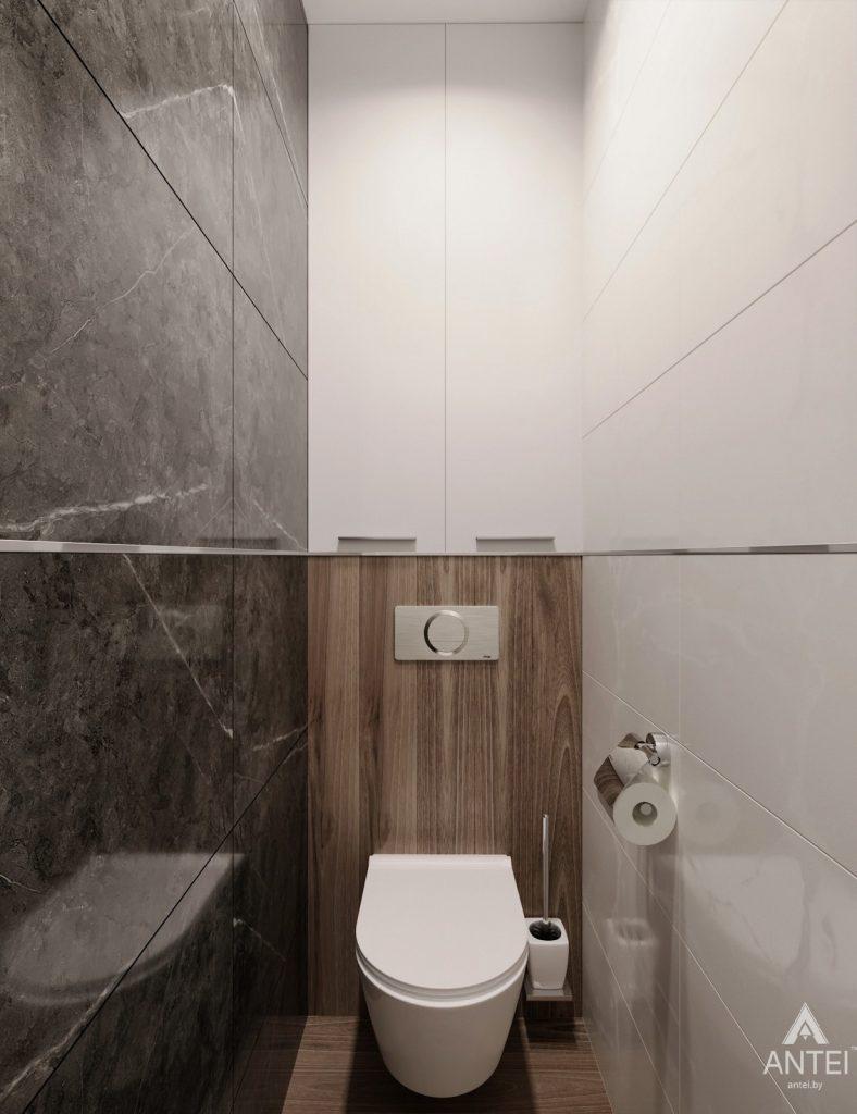 Дизайн интерьера двухкомнатная квартира в Речице - санузел фото №5