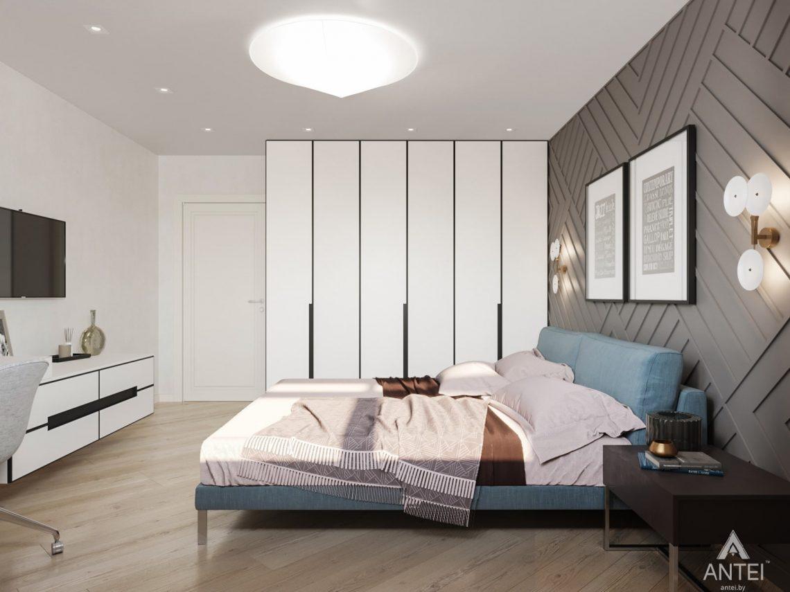 Дизайн интерьера трехкомнатной квартиры в Гомеле, ул. Карла Маркса - спальня фото №2