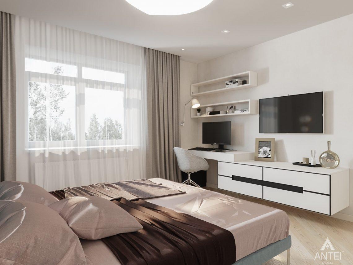 Дизайн интерьера трехкомнатной квартиры в Гомеле, ул. Карла Маркса - спальня фото №3
